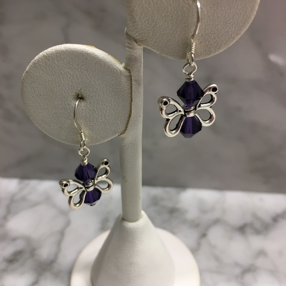 50ced347b Handmade Jewelry | Hp Fibromyalgia Or Lupus Awareness Earrings ...